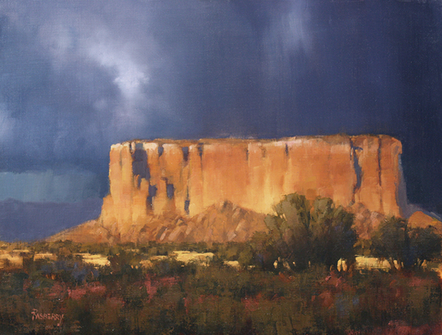 Rasberry_Dark Clouds Over Enchanted Mesa_14x18 [WEB] .jpg