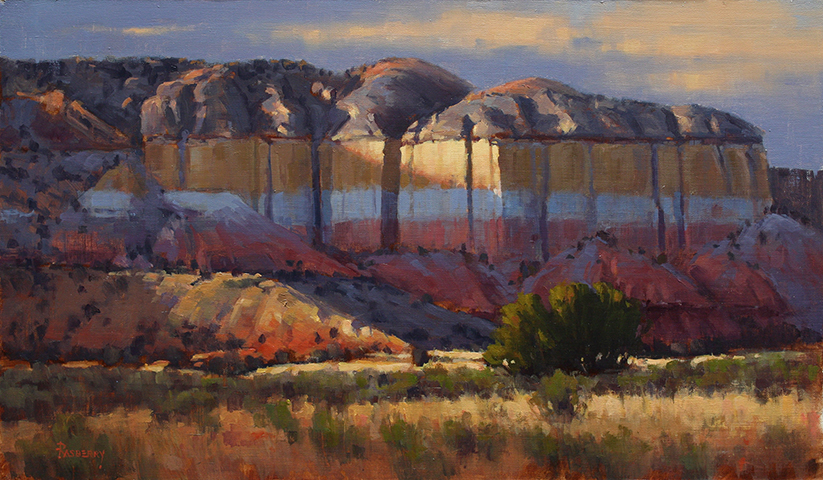 Rasberry_Colored Bluffs along the Rio Chama 14x24_2019_WEB.jpg