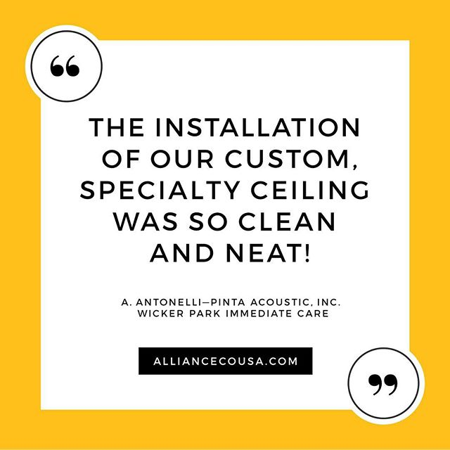 We appreciate the feedback, Anthony!😀 . . . #TestimonialTuesday #WeLoveOurClients #AlignedWithYou #allianceacoustical
