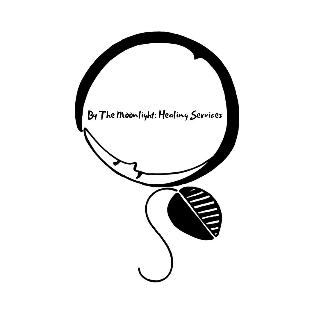 "- By The Moonlight: Healing Services | Energy & Birth Work | ""Loving my logo created by the lovely Melissa McElhose. She's an incredible freelance artist. All of her work is beautiful, clean, and created with thoughtfulness and incredible attention to detail."""