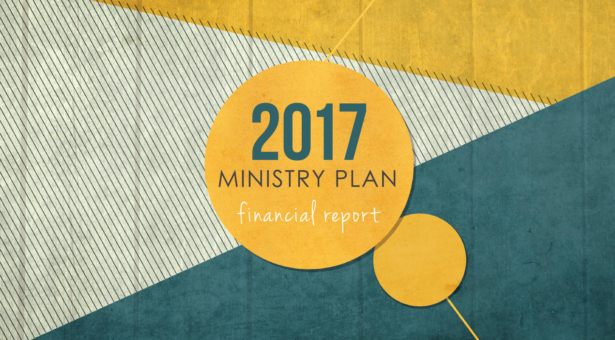 2017 Ministry Plan