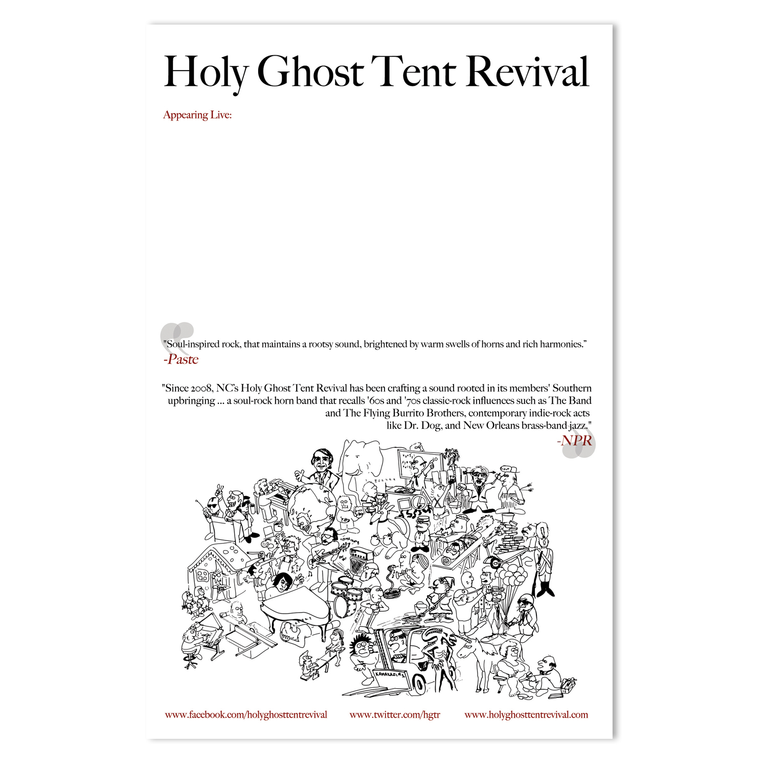 Holy Ghost Tent Revival Tour Poster  |   Illustration by Steve Mirabelli