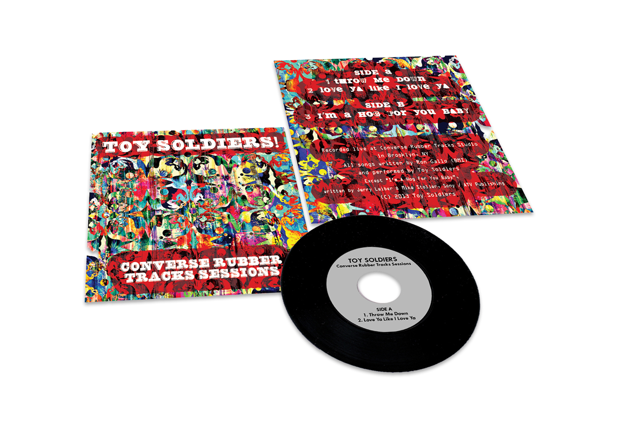 "Toy Soldiers Converse Rubber Tracks Sessions 7"" Vinyl Package 
