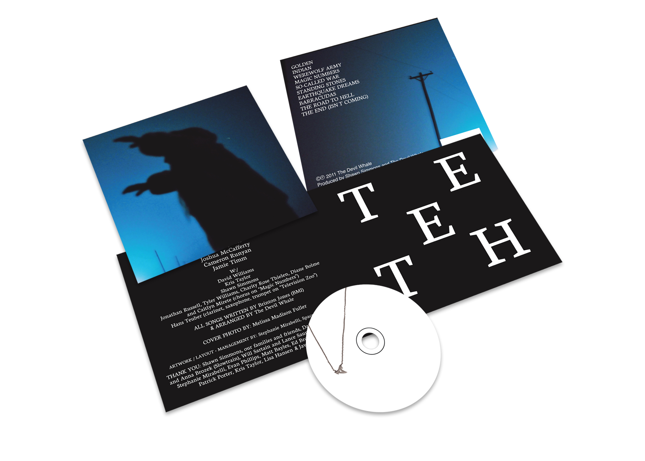 The Devil Whale  Teeth CD Package | Layout and Concept.  Photo by Melissa Madison Fuller.