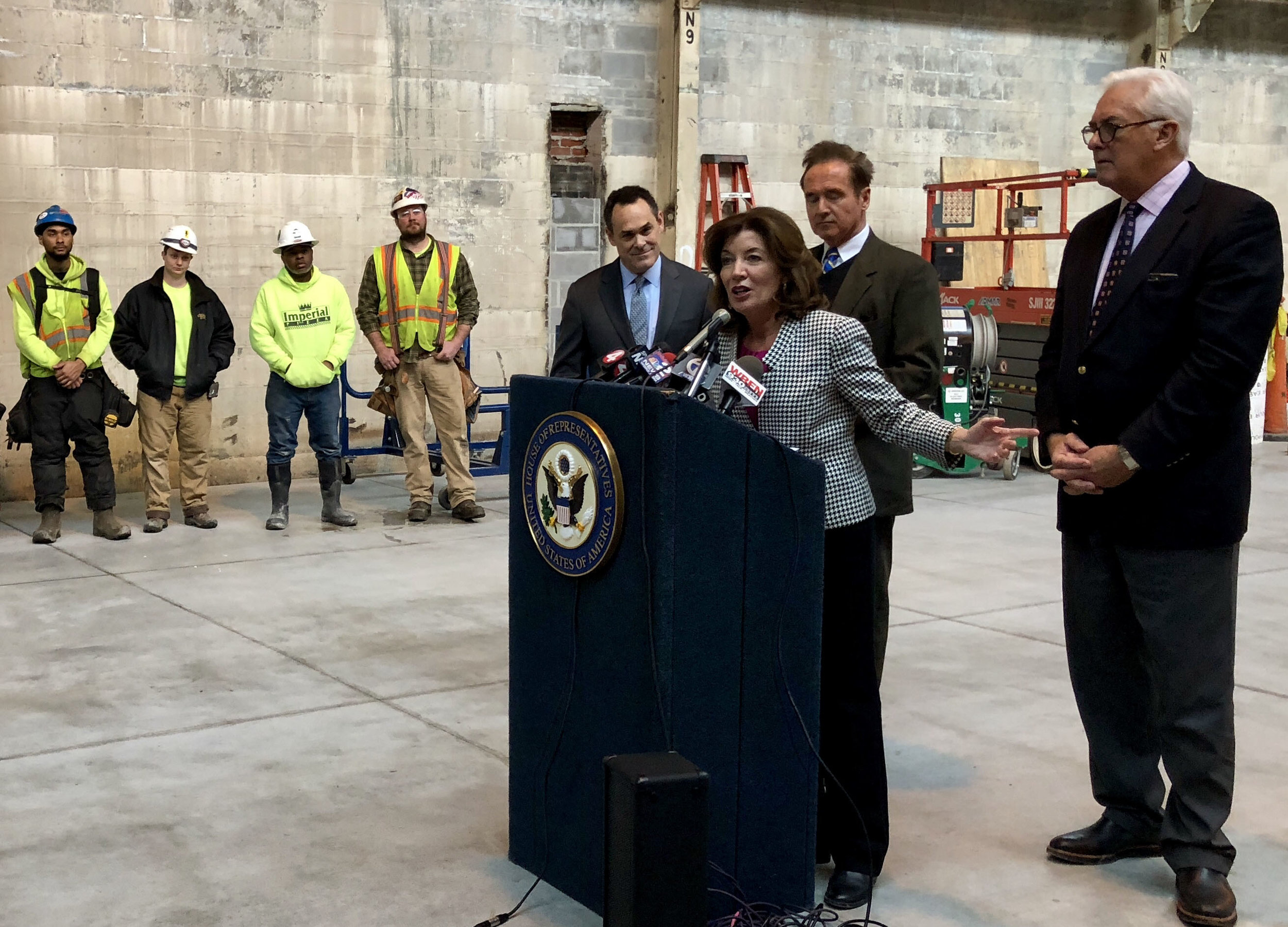 Lt. Governor Kathy Hochul addresses the crowd.