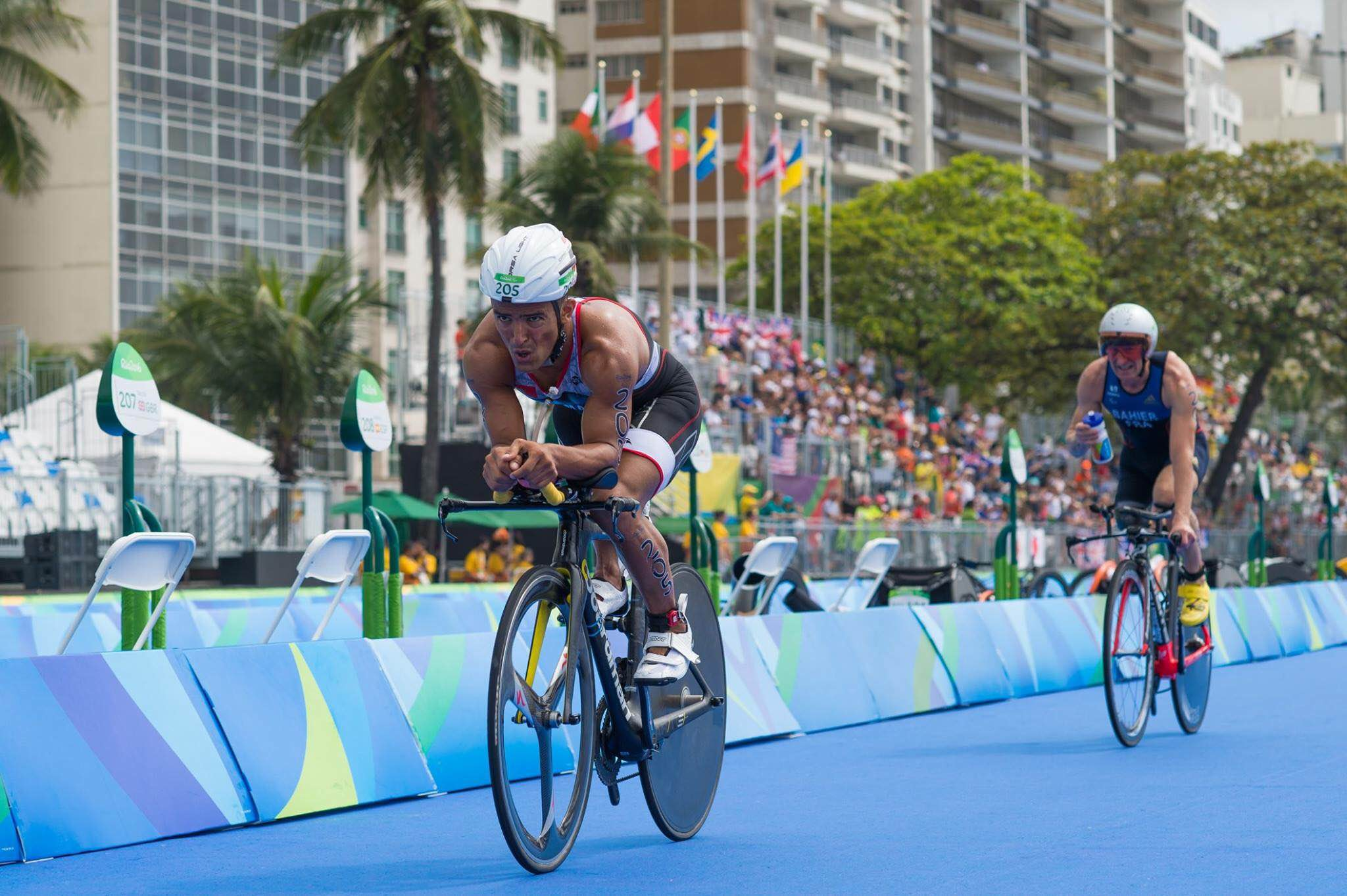 Mohamed on the bike during the Rio Olympic Games, 2016.