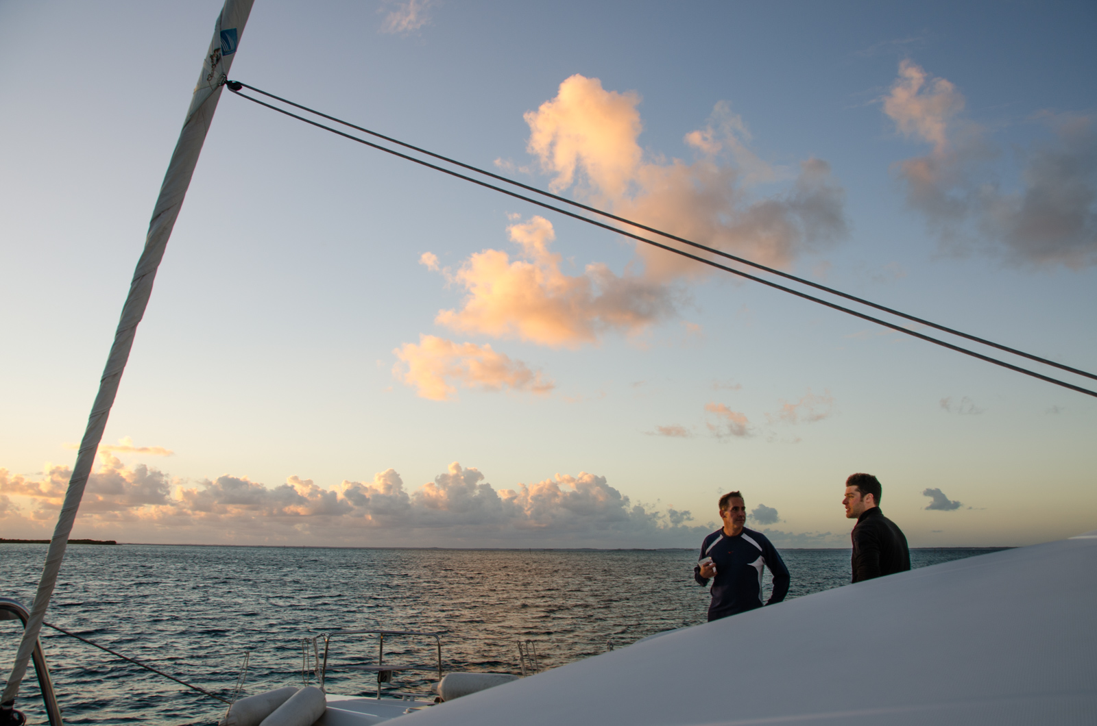 Jamie & Brett discuss their strategy for a morning swim.