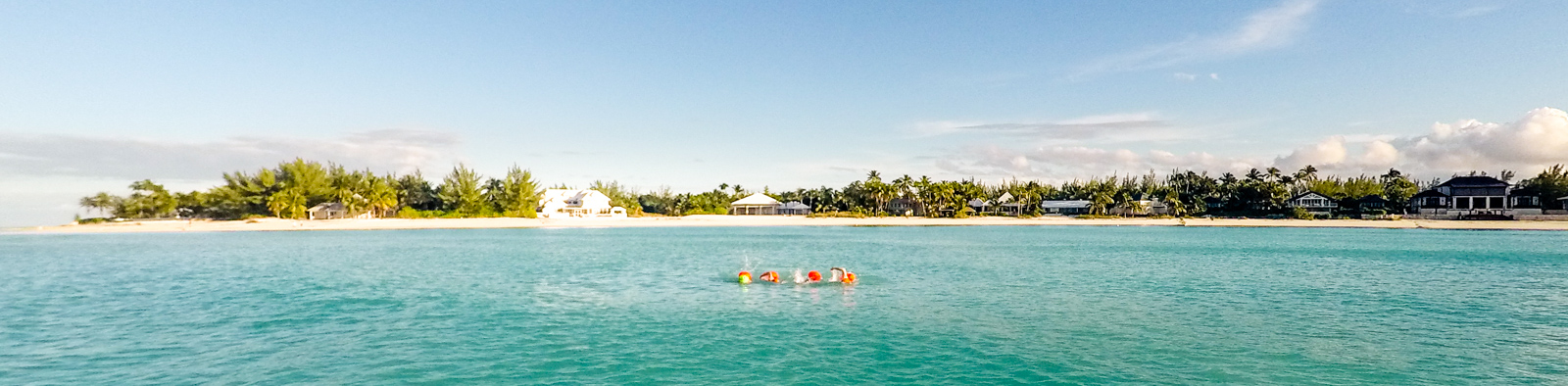 Synchro swimming in Treasure Cay Bay.