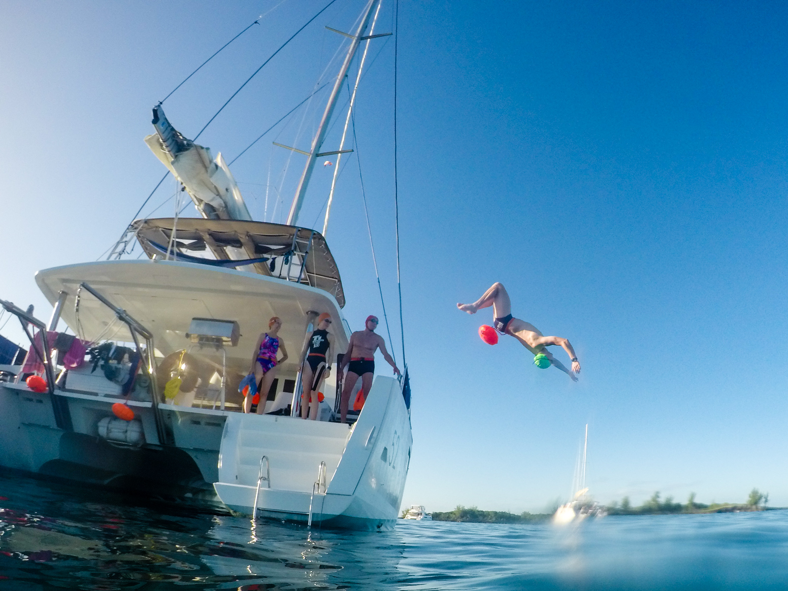 Deckhand Zack is VERY excited to join us in the water for guide duties. He landed this flip and guided like a pro.