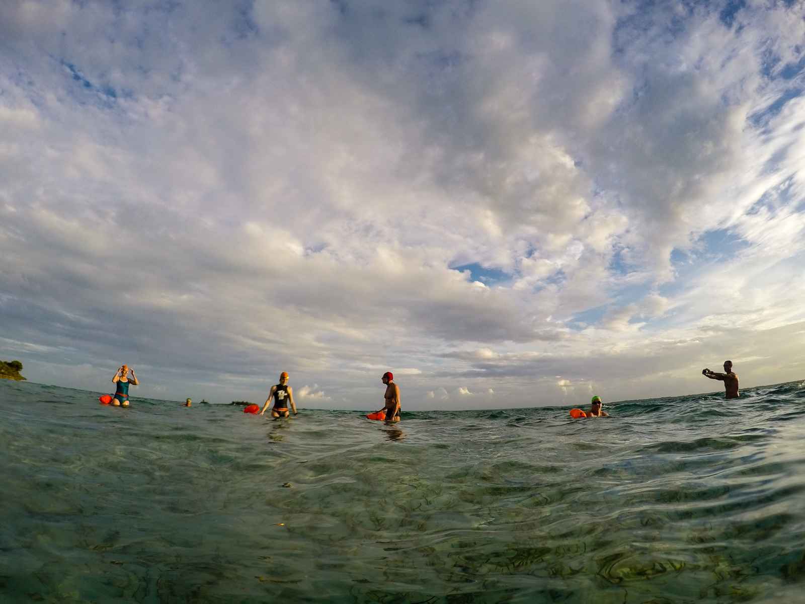 Fish Cay delivered wildlife, fun and splashy waves, great light and a group swim.