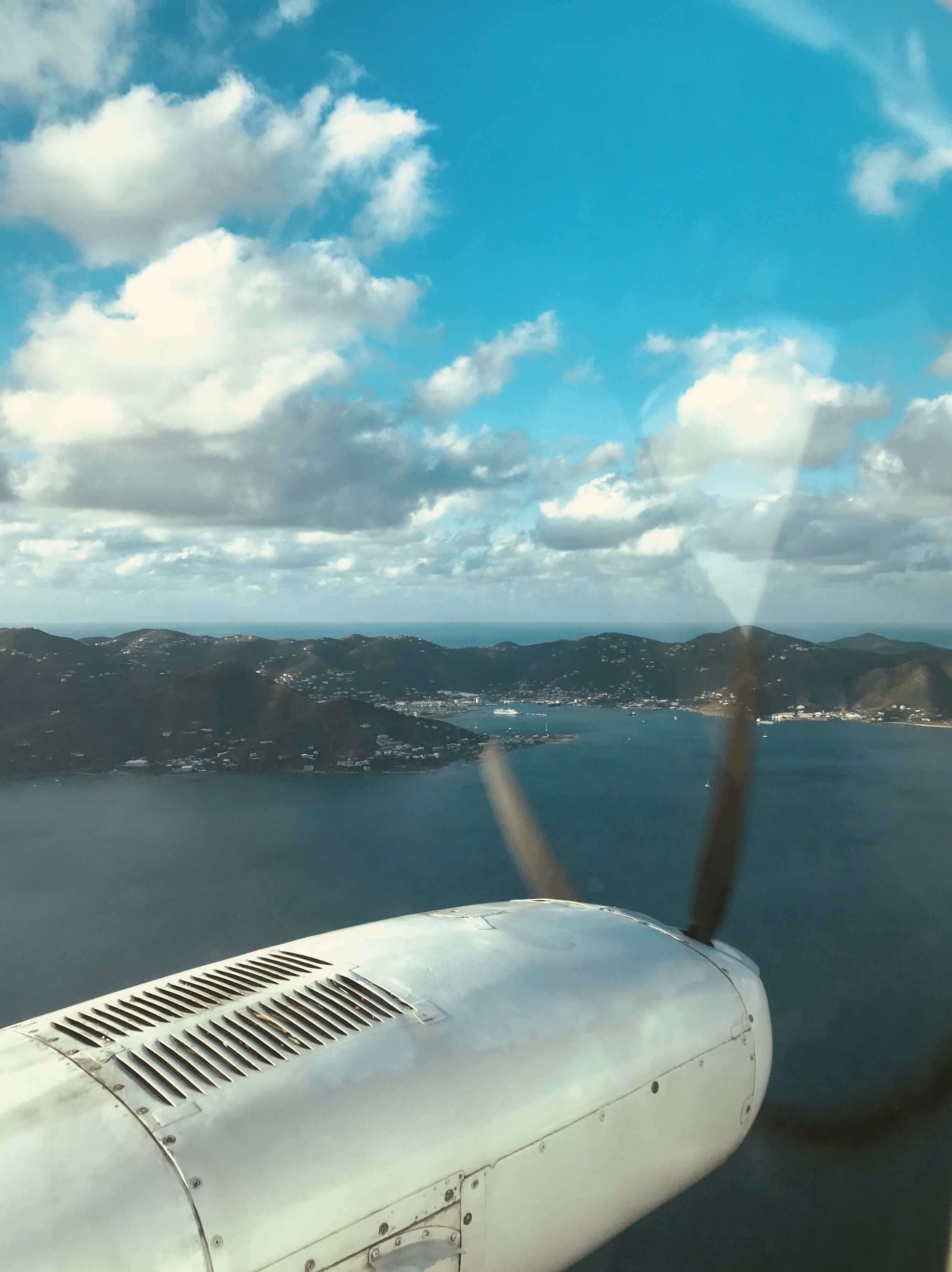 Our long awaited approach to Tortola.