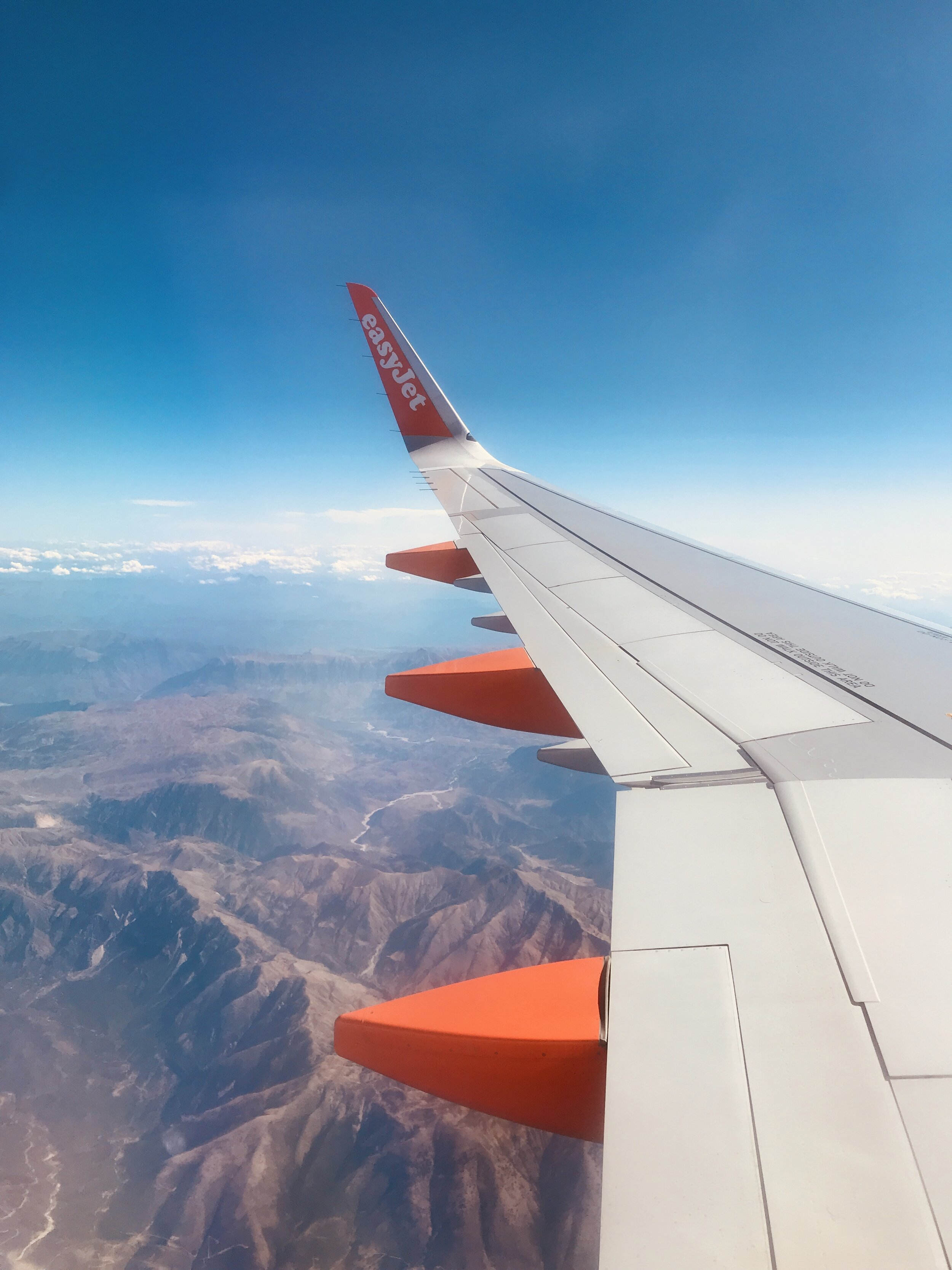 Flying in over mainland Greece and the Peloponnese mountains as we approach Preveza.