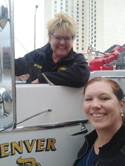 First Female Crew Executive Director Jamie Wilms & DFM Board Member and Fire Chief Brita Horn