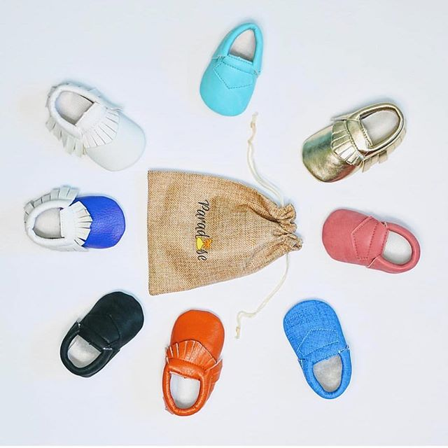 What colors would you choose? #paradisekidsclothing moccasins