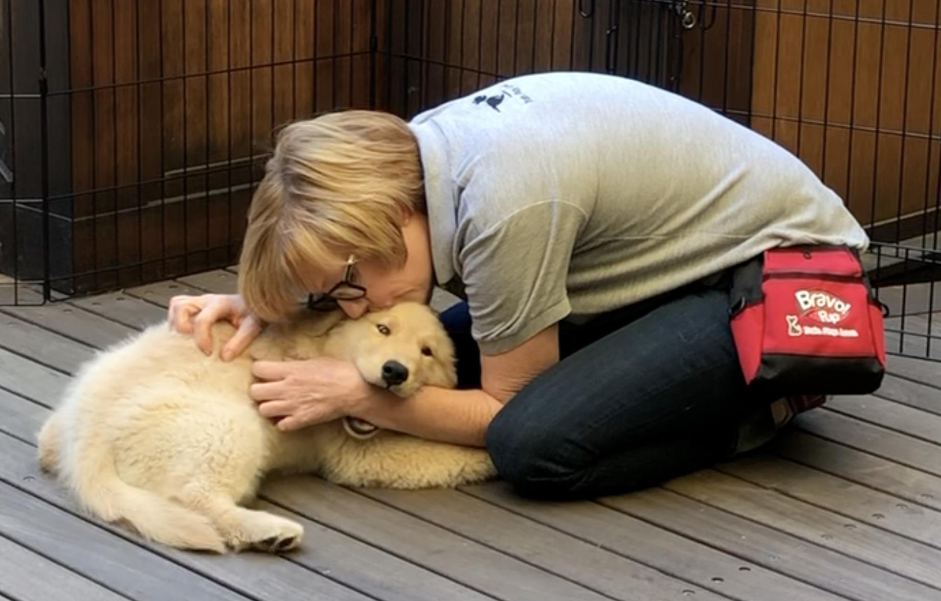 Sandi Thompson Bravopup dog trainer and owner.