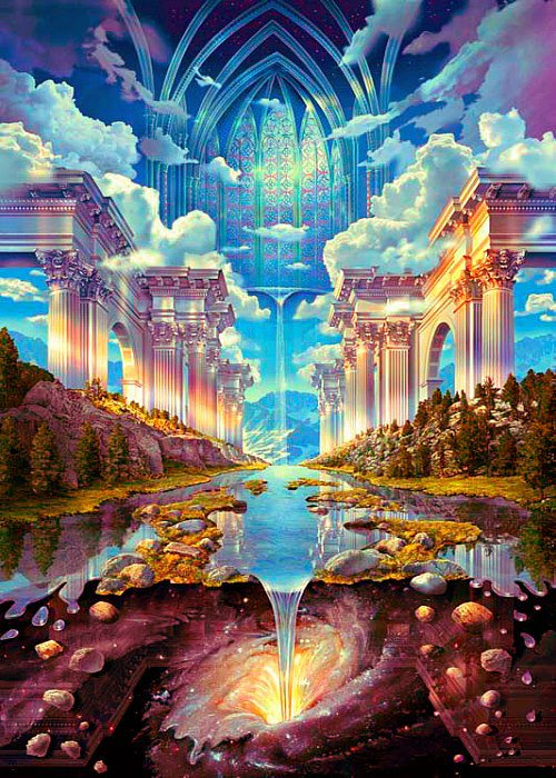 SHAMBHALA - The city of light, is the capital of Agartha.