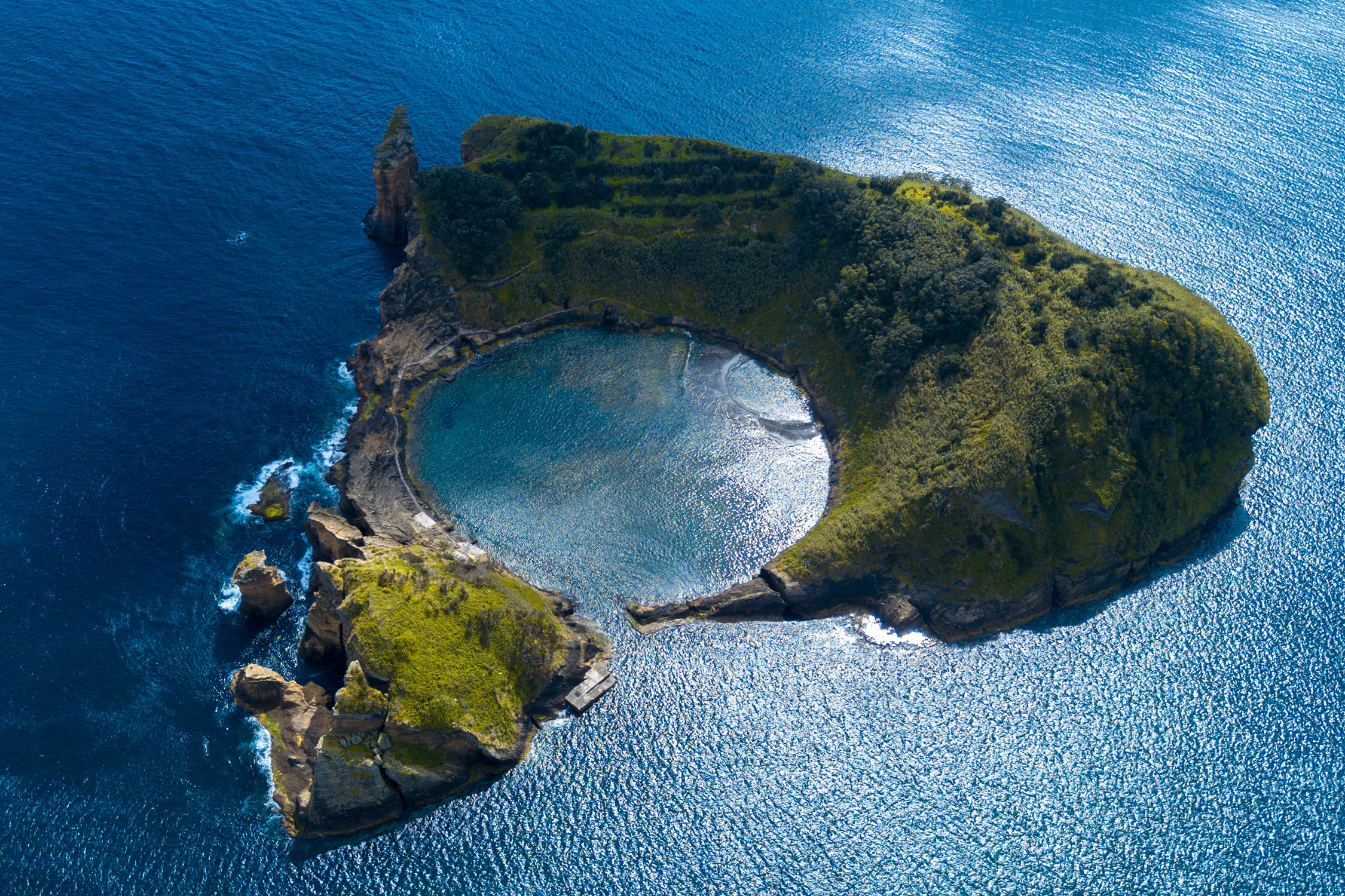 Only a few mountain tops of Atlantis remained dry, now the Azores in Portugal -