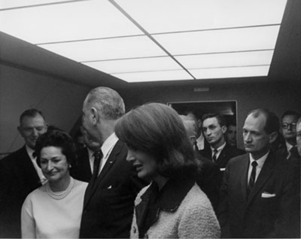 The famous wink to LBJ after the Assassination