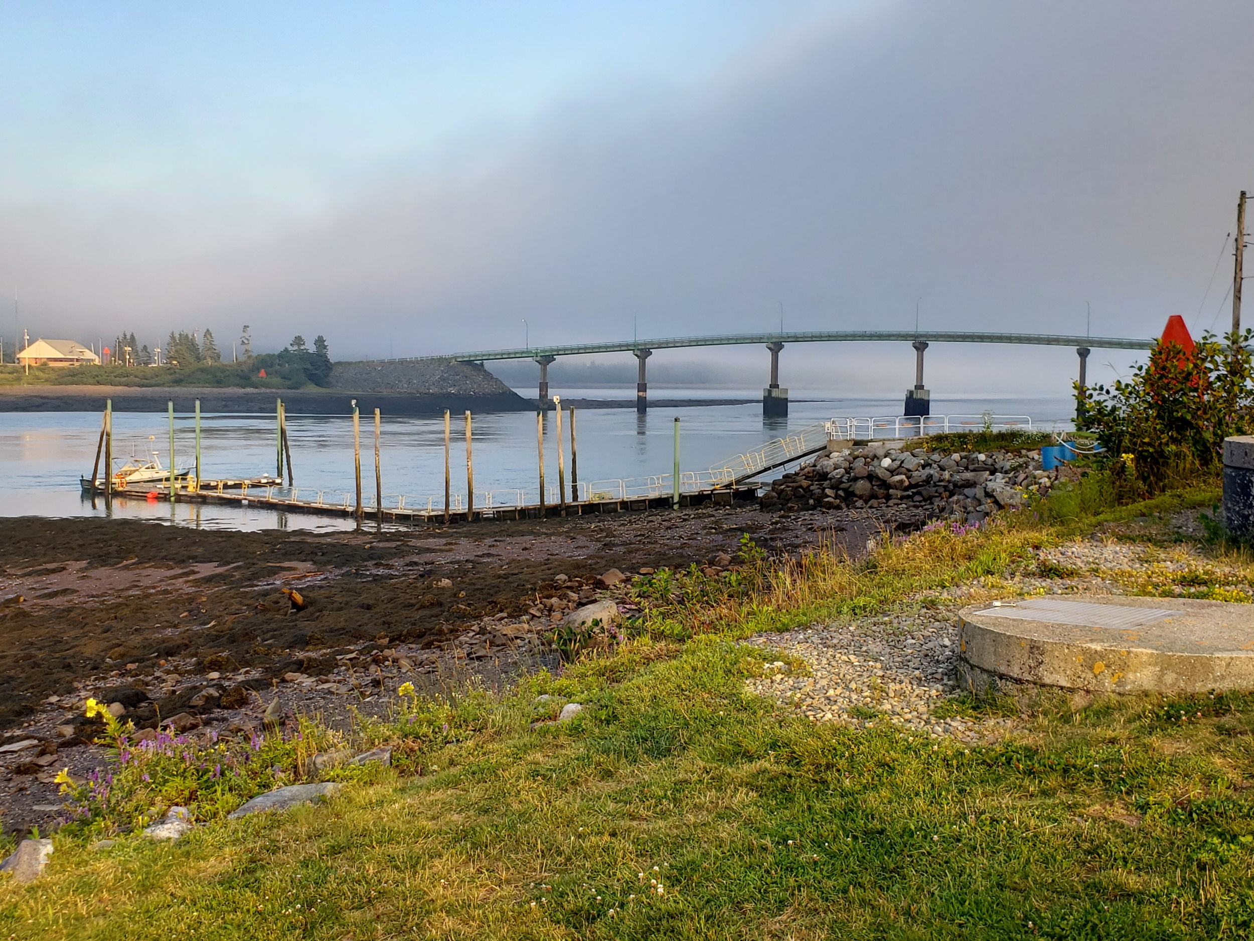 Bridge looking over into Canada from Lubec, Maine
