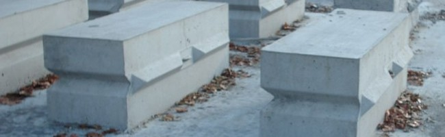 PRECAST BLOCKS - Blocks that are 2' x 2' x 6'. Great for containment or jersey walls.
