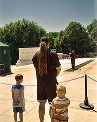 2009: Buggy, Pops, and Brother at Tomb of the Unknown Soldier saying thank you to our fallen!