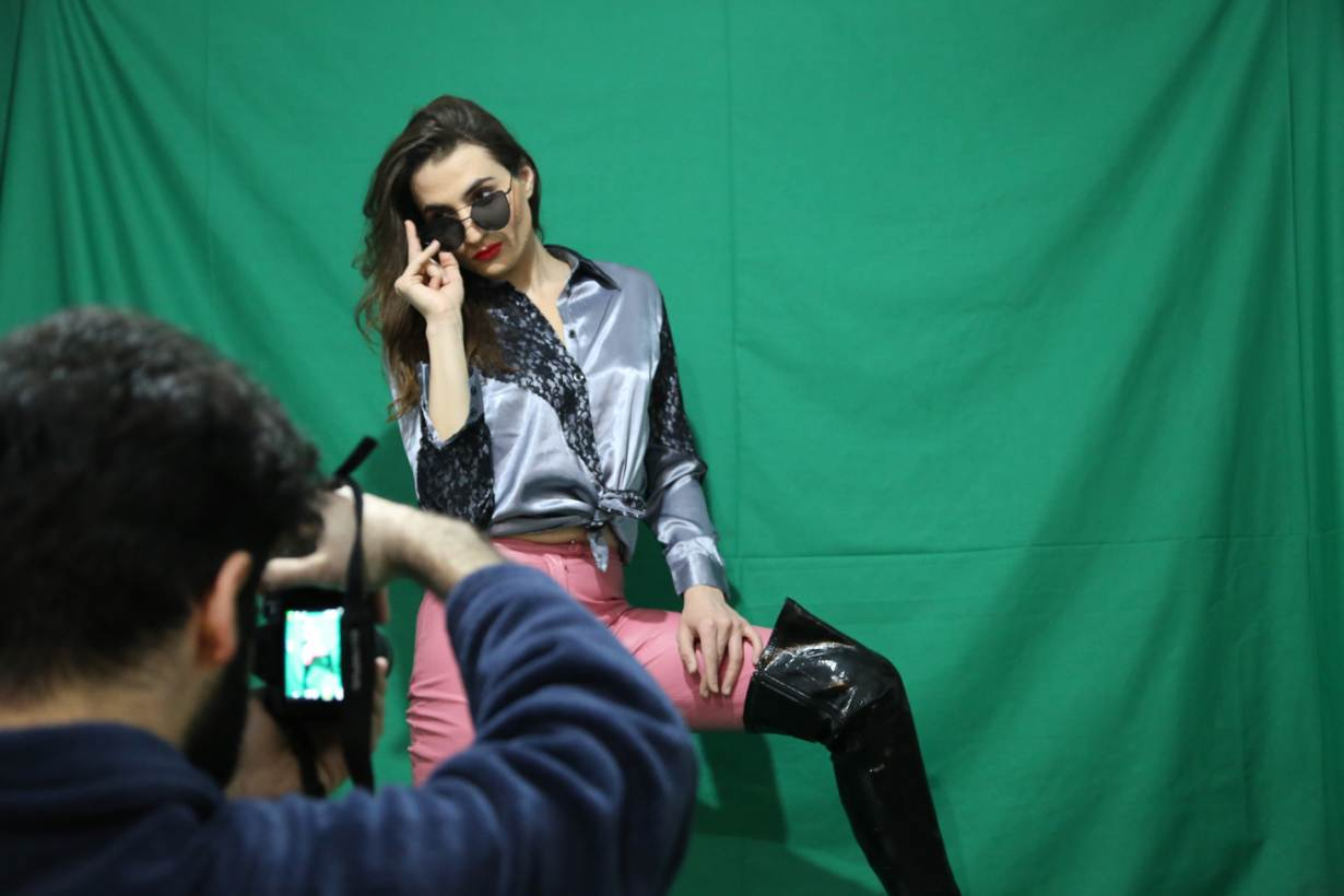 Sasha Elijah, a Lebanese transgender model, poses for photos for her social media accounts, north of Beirut, Lebanon, February 2, 2018. Thomson Reuters Foundation/Heba Kanso