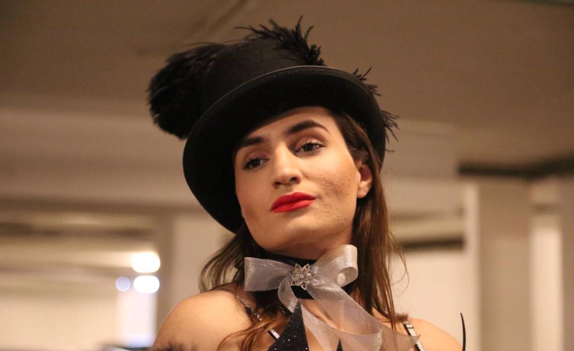 Sasha Elijah, a Lebanese transgender model, poses for a photo, north of Beirut, Lebanon, February 2, 2018. Thomson Reuters Foundation/Heba Kanso
