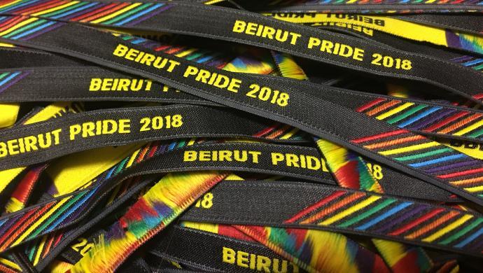 Armbånd fra 2018-versionen af Beirut Pride. Foto: Beirut Pride