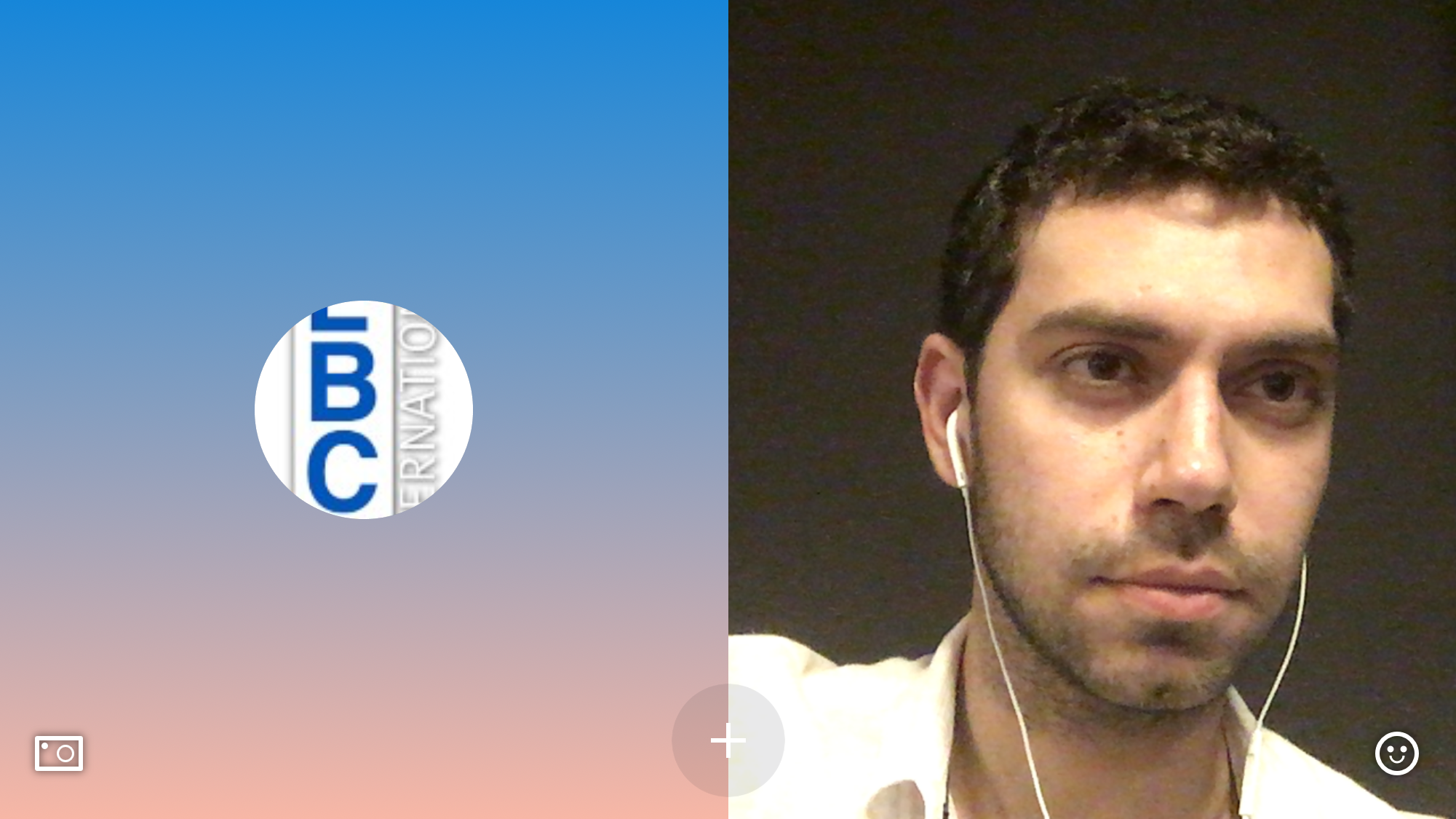 Screenshot during the Skype interview on LBCI - May 16, 2018