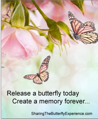 Butterfly release envelope