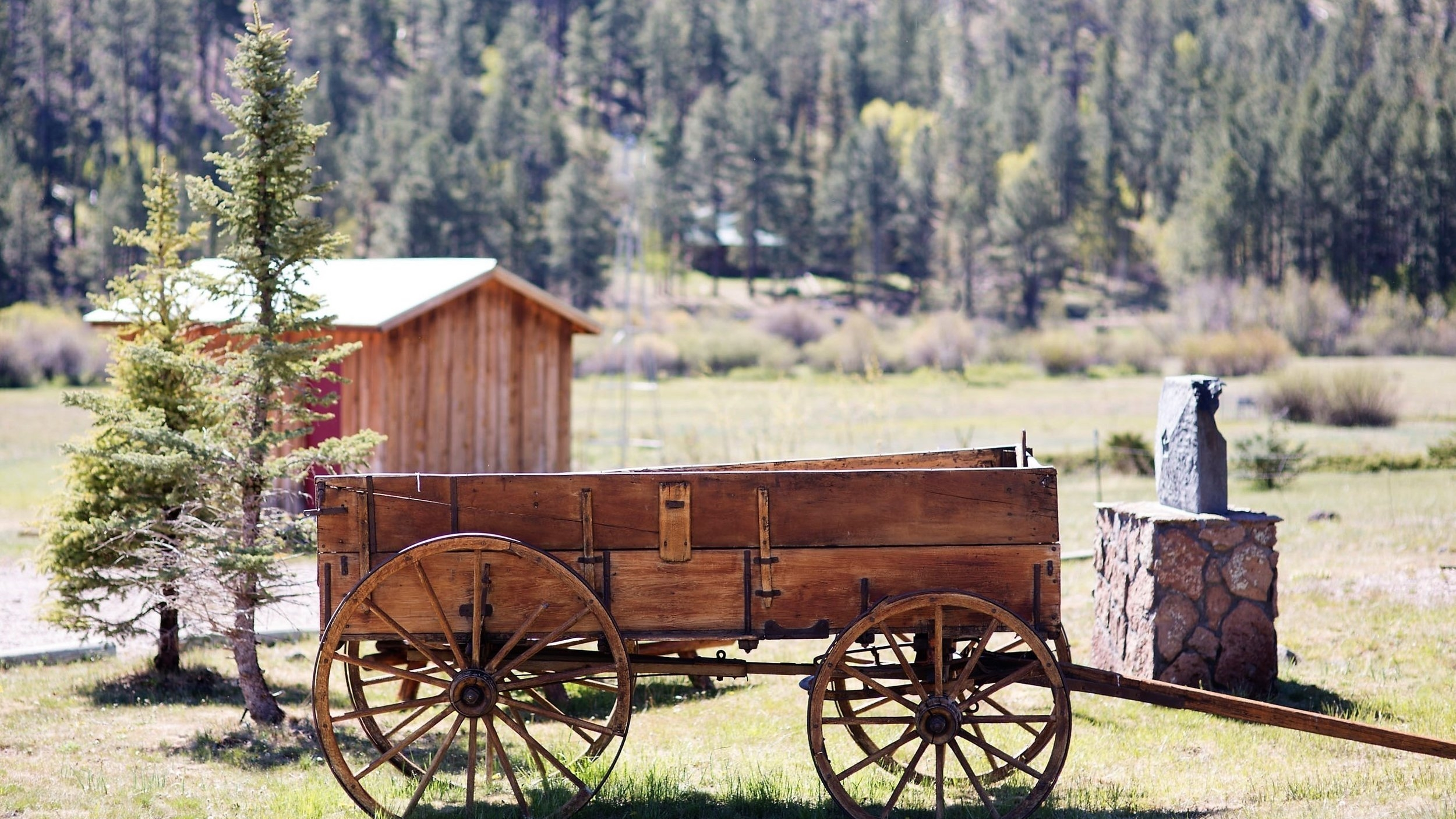 Antique wagon at Community Center.jpg