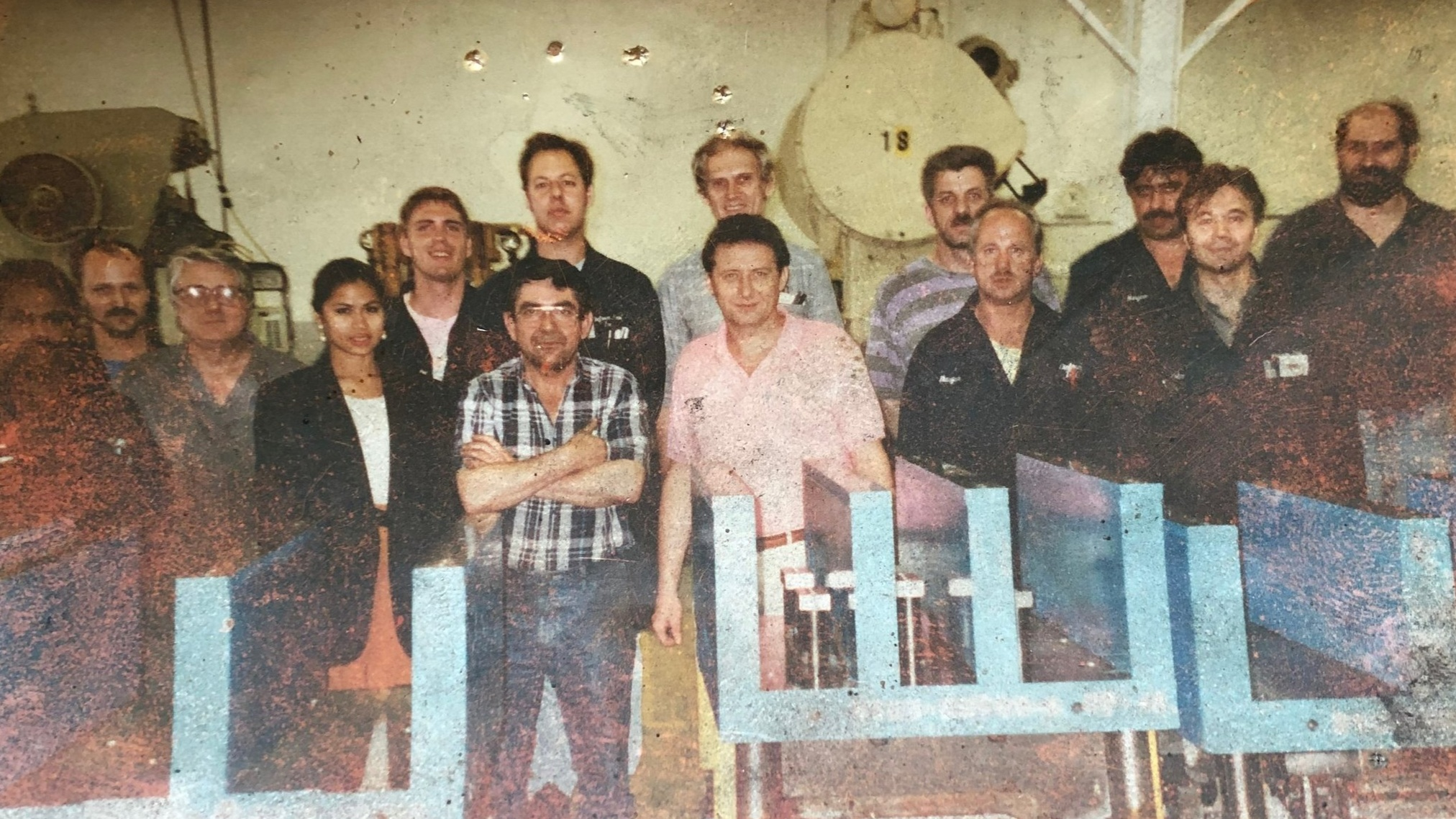 Original team photo of Dieform Tool from 1986.