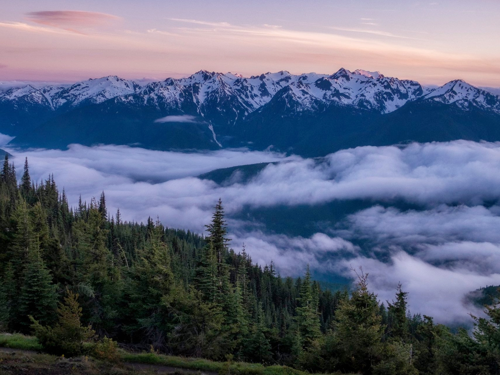 The mountains of the Olympic Peninsula