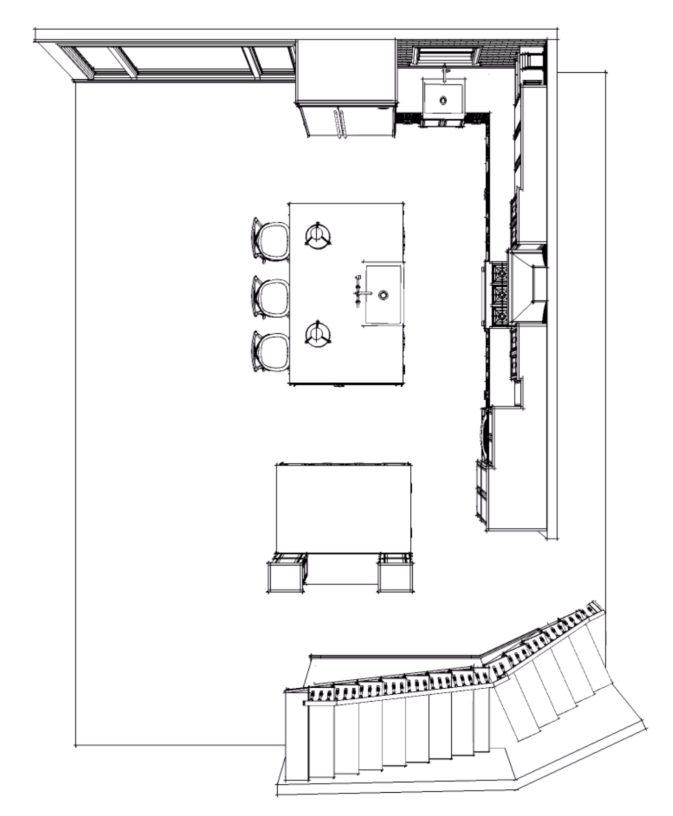 PROPOSED FLOOR PLAN TO HIDE THE STRUCTURAL POST