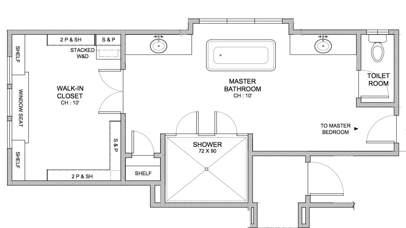 ORIGINAL MASTER BATHROOM FLOOR PLAN