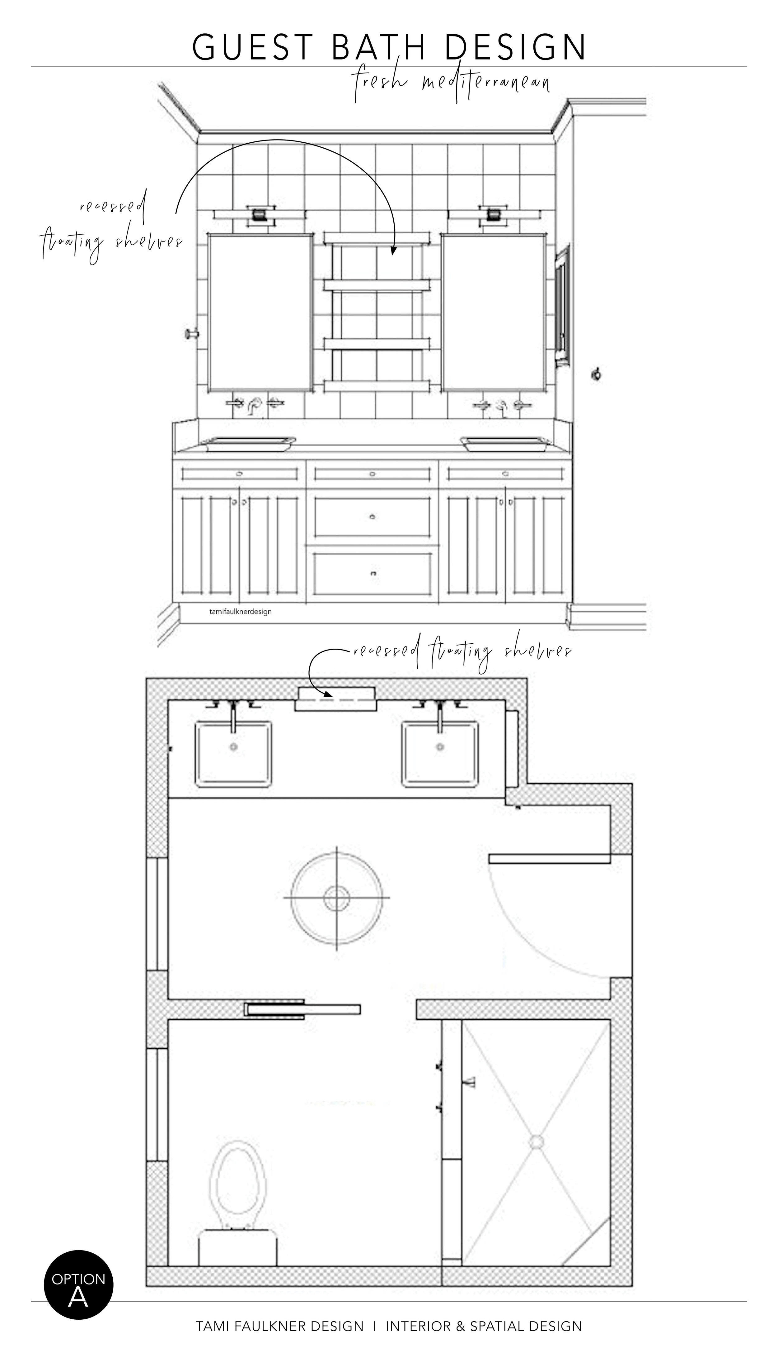 OPTION A - FEATURE WALL + FLOOR PLAN