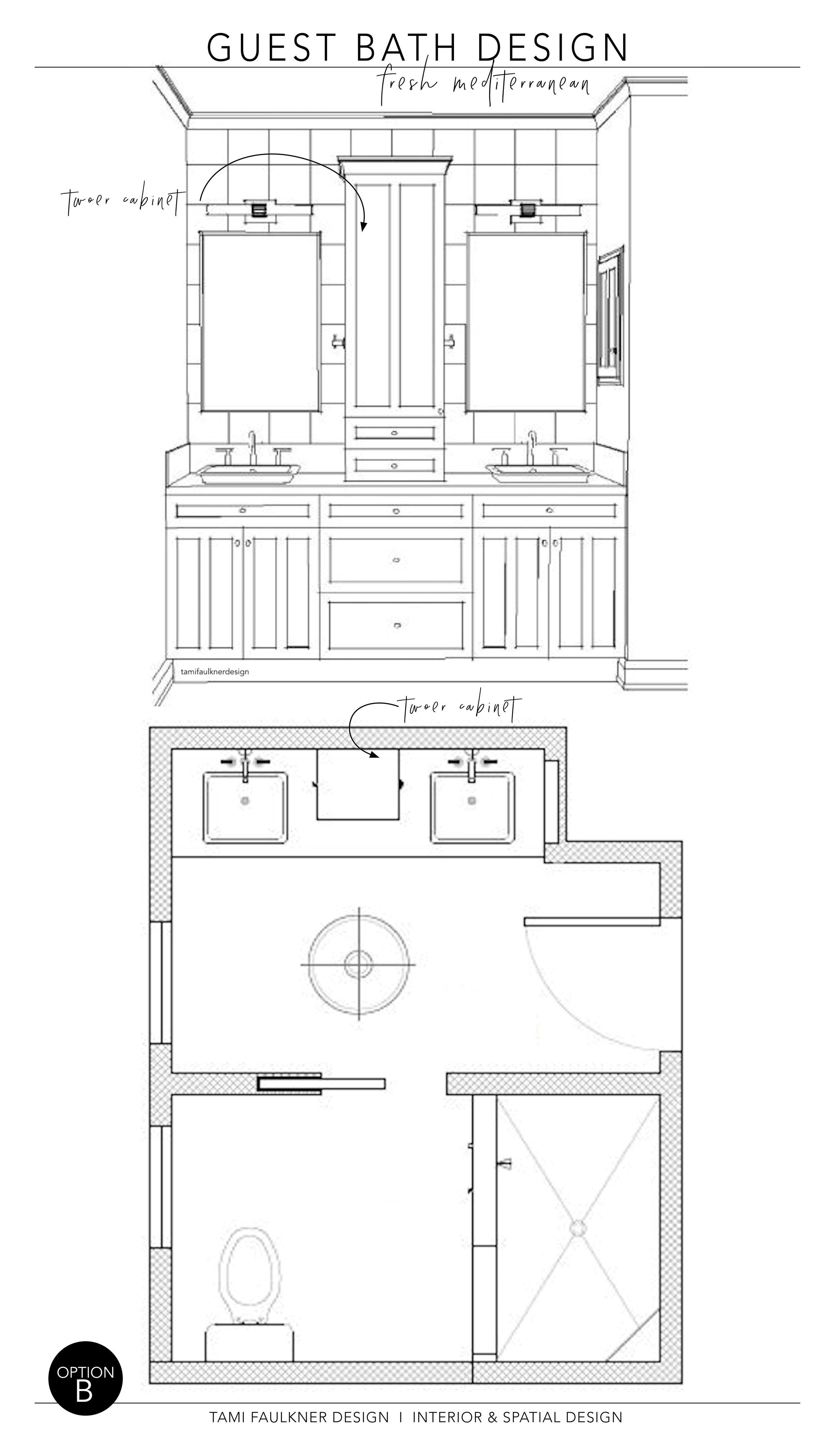 FEATURE WALL + FLOOR PLAN - OPTION B