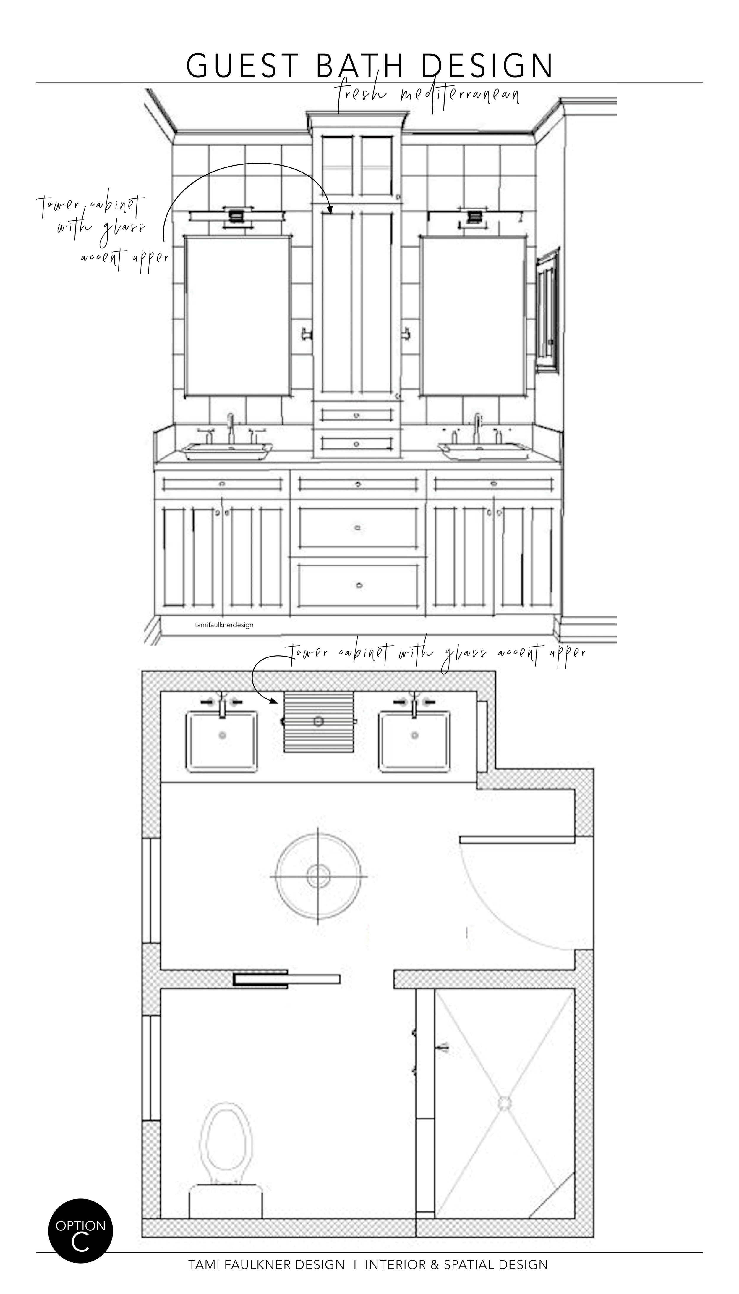 FEATURE WALL + FLOOR PLAN - OPTION C