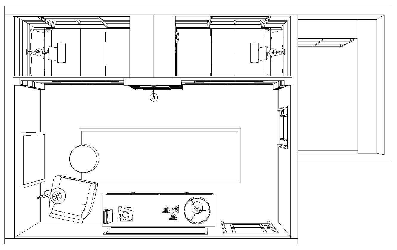 SIDE-BY-SIDE PLATFORM BEDS - PLAN VIEW