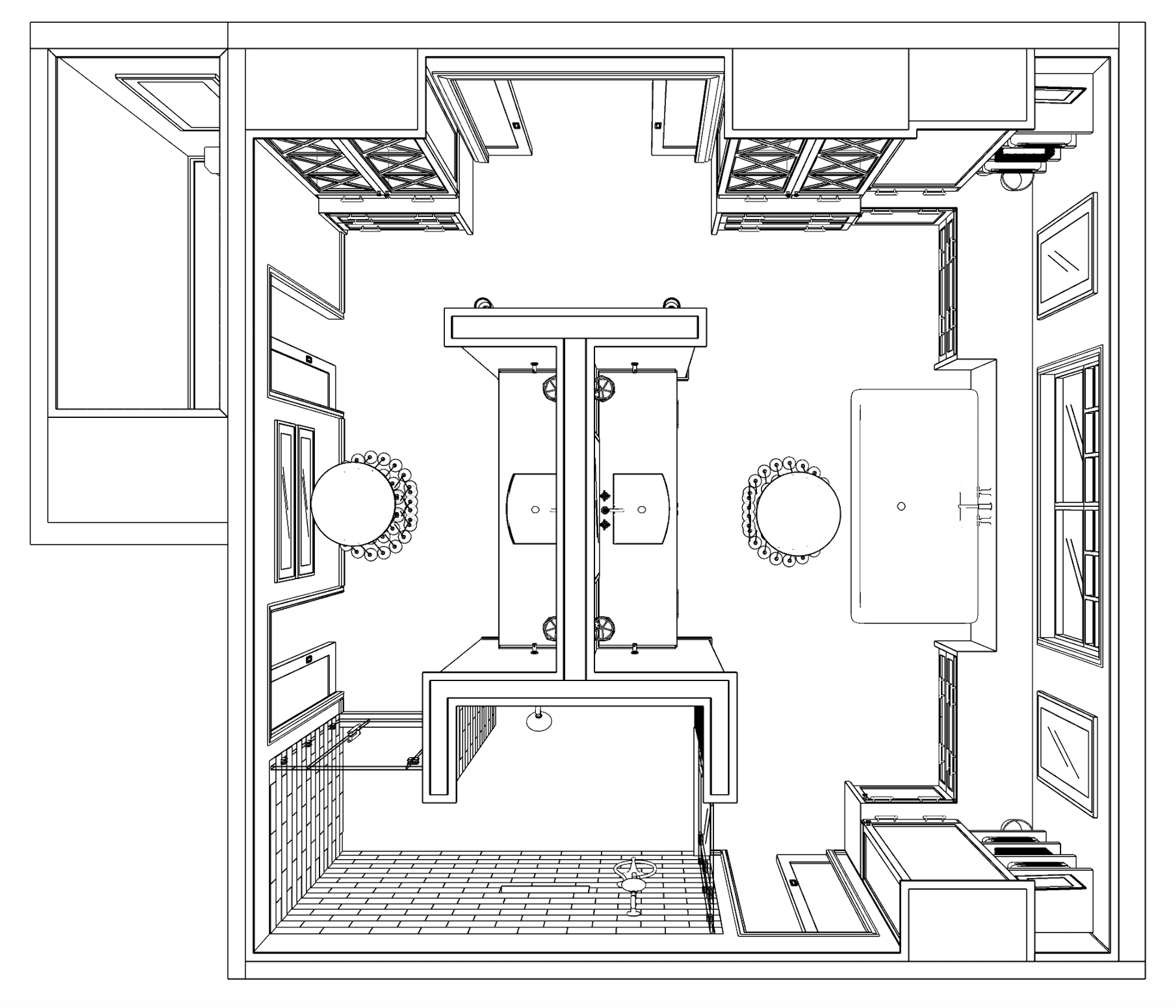 REVISED MASTER BATHROOM PERSEPCTIVE PLAN