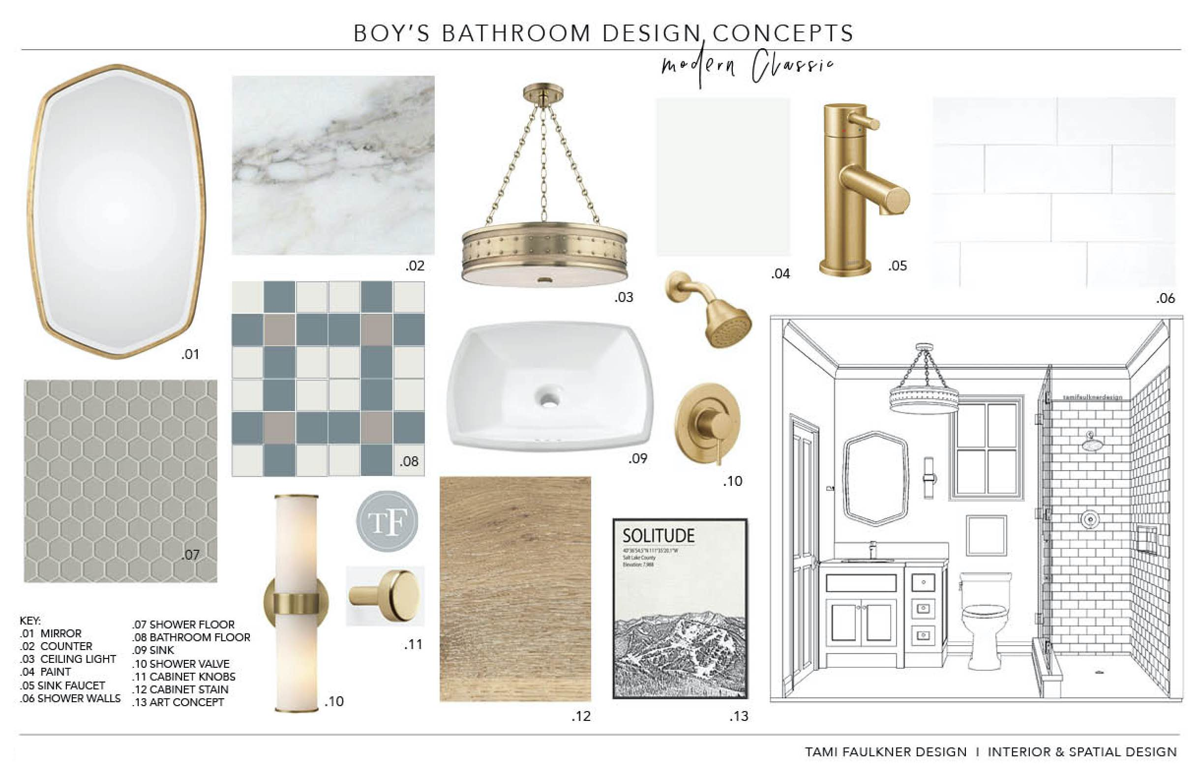 CONCEPT BOARD - GOLD FINISHES