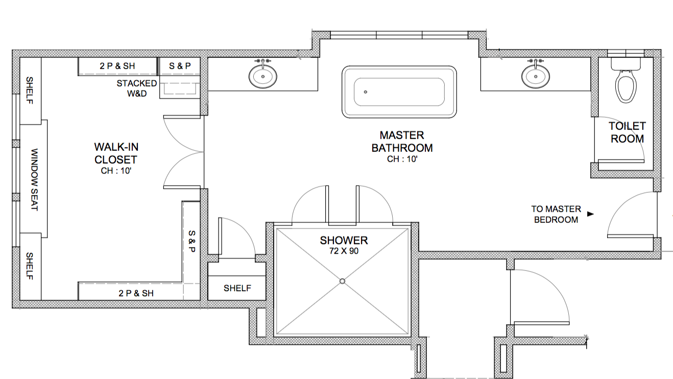 ORIGINAL MASTER BATHROOM FLOOR PLAN