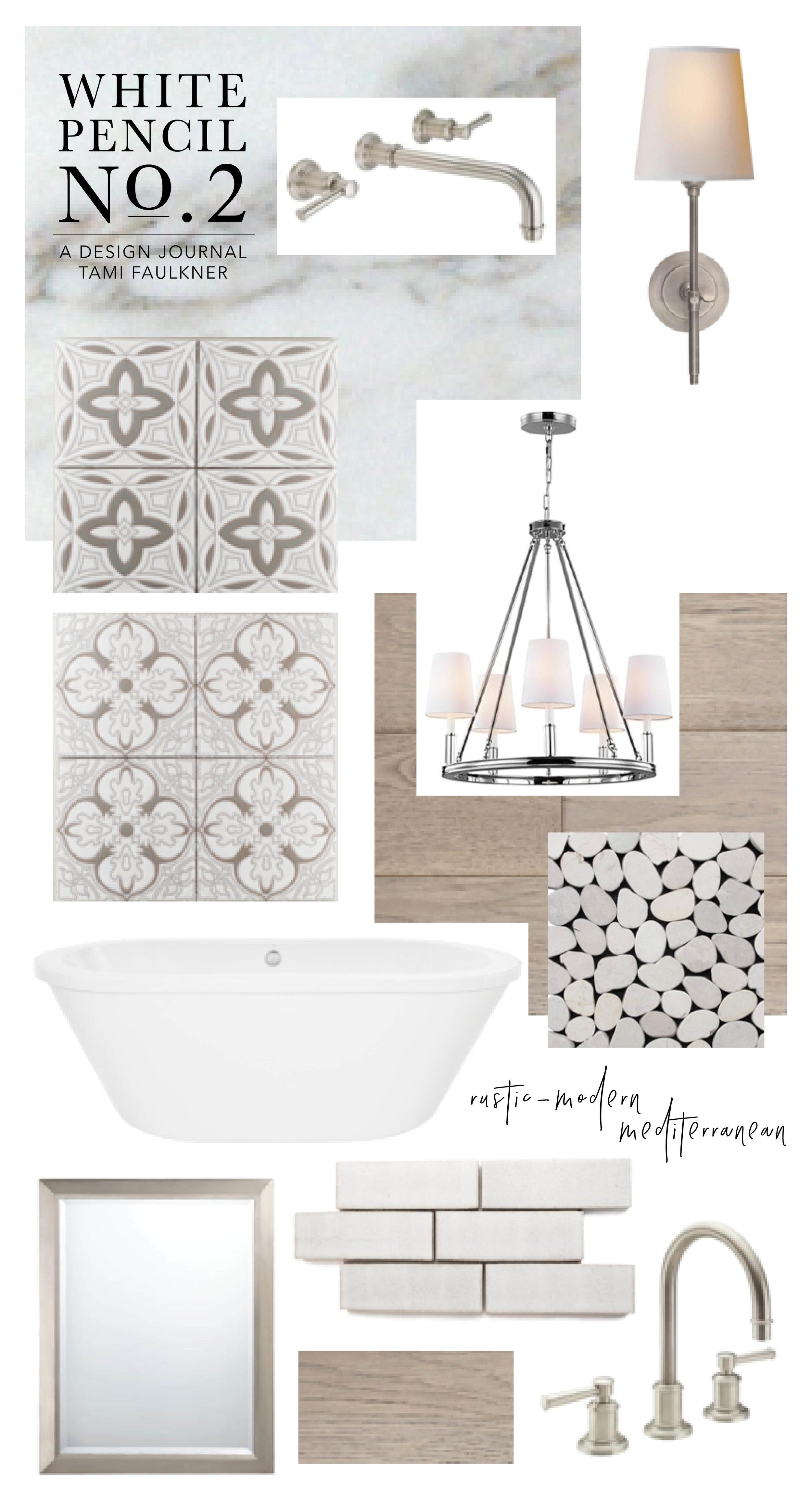Master Bathroom Remodel Rustic Modern Mediterranean Tami Faulkner Design