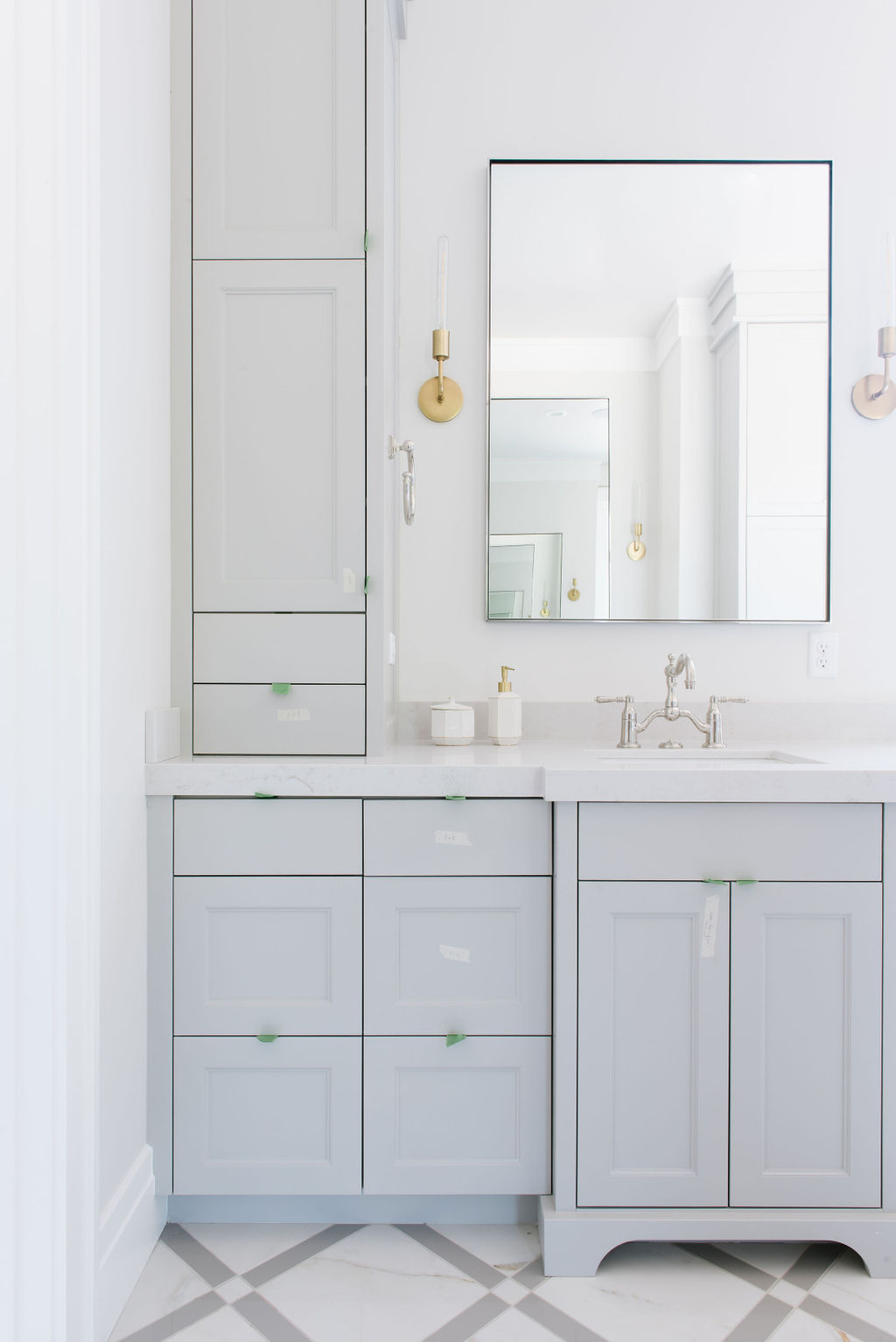 MASTER BATHROOM SINK CABINETS