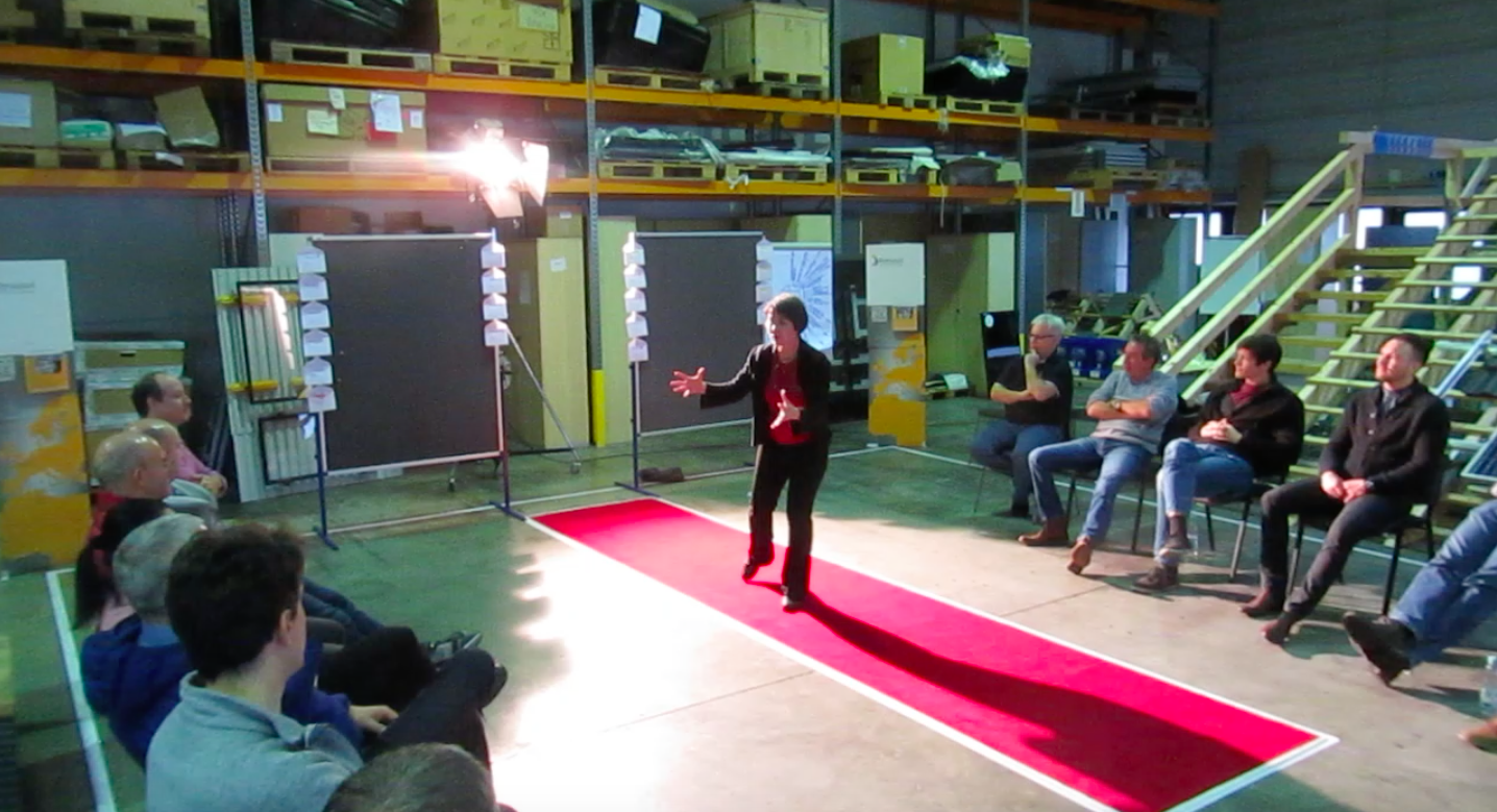 We go where you are: Body Language Workshop in company's warehouse.