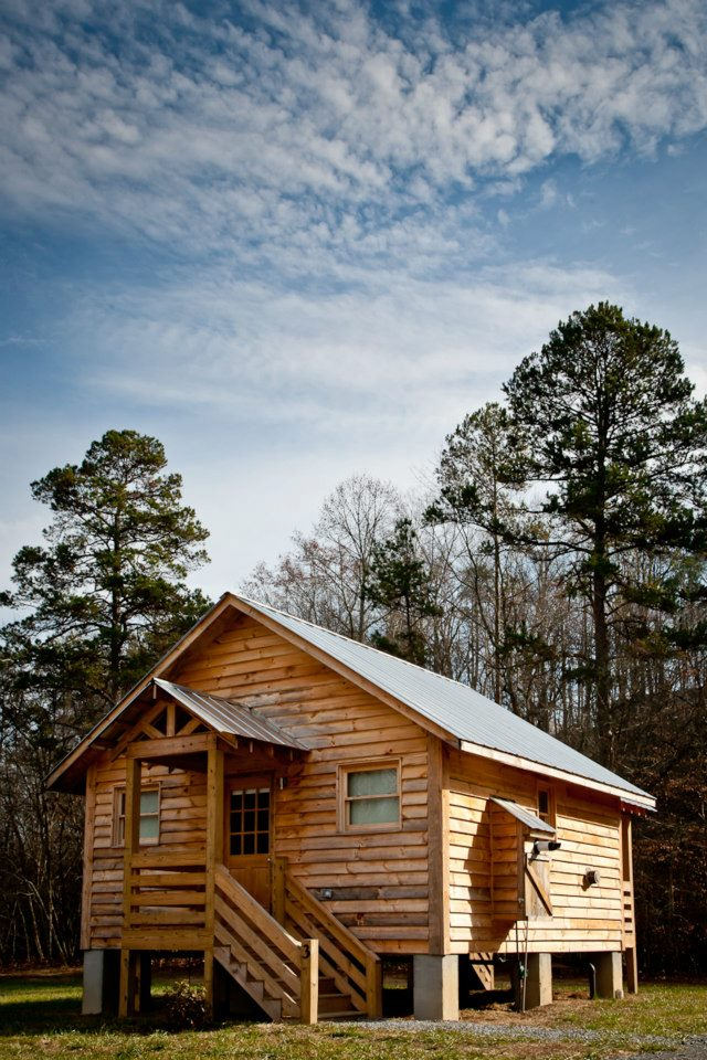 One of four private, creek-side cabins