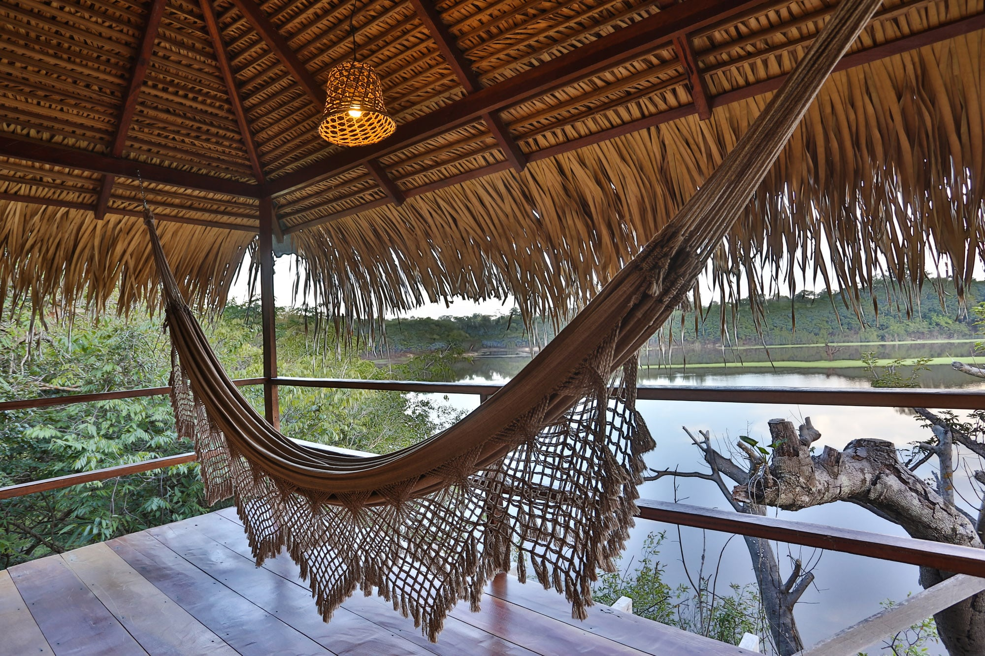 Relaxing at Juma Lodge in the Amazon