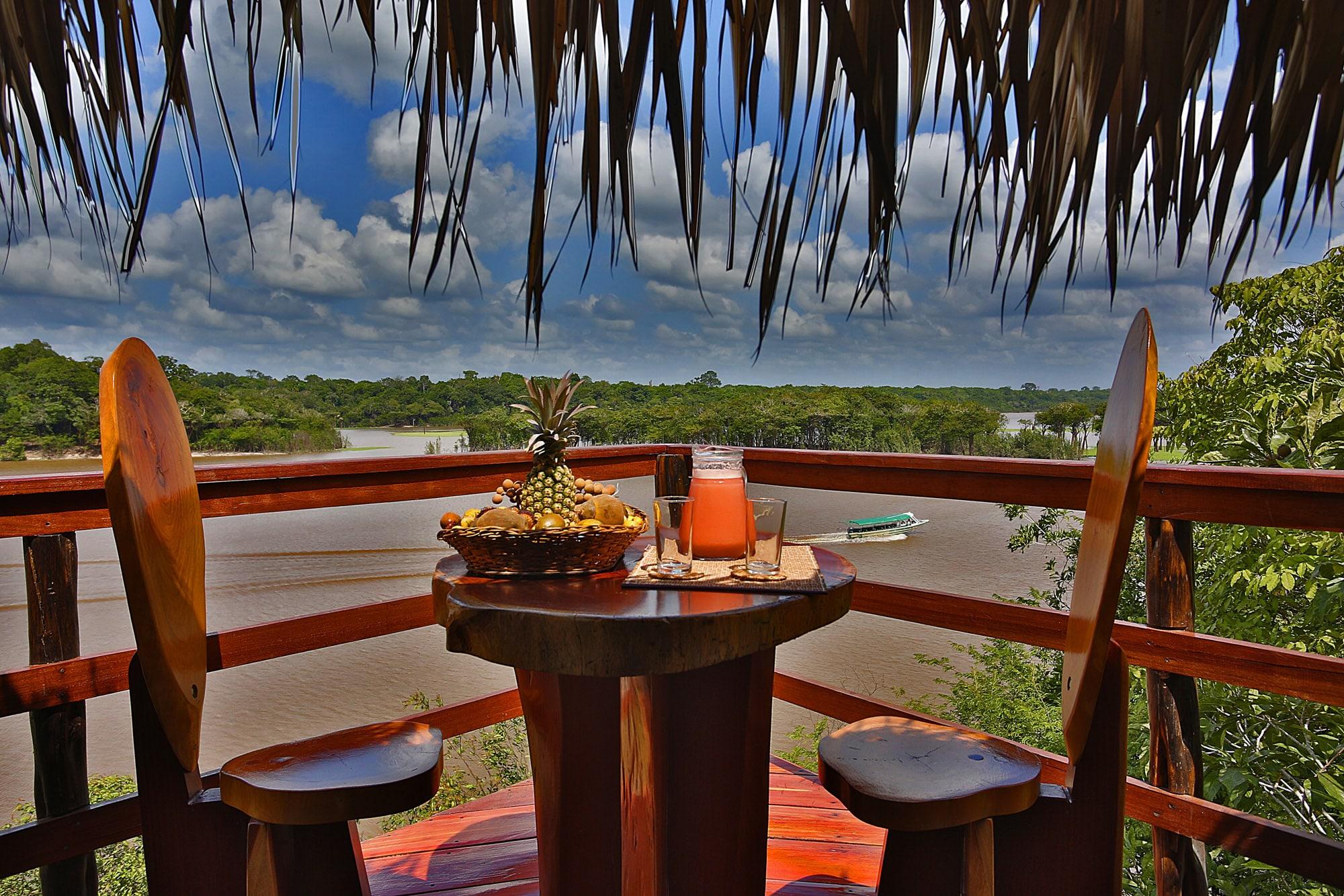 Breakfast at the Juma Lodge, Amazon, Brazil