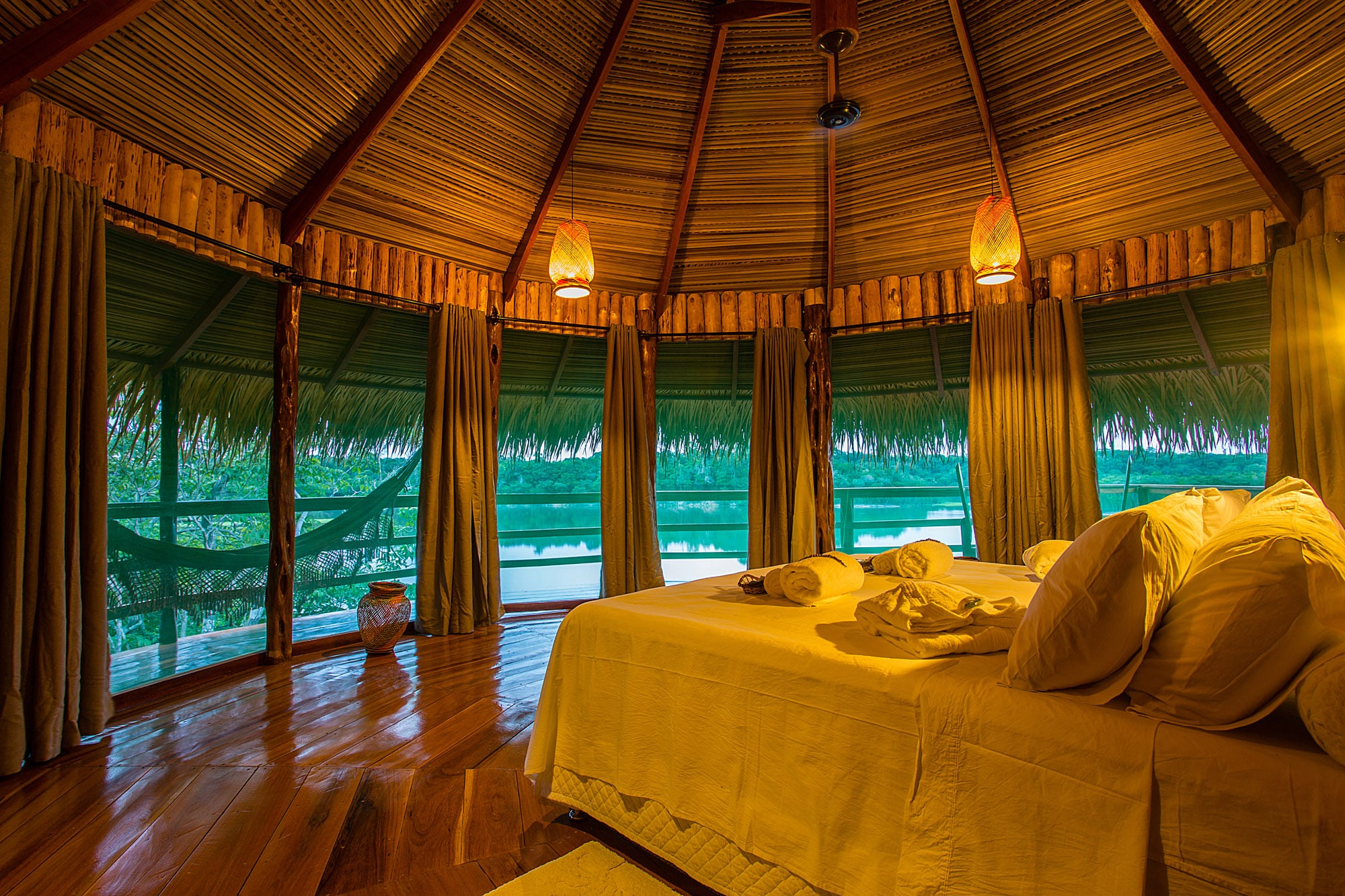 Room at the Juma Lodge, Amazon, Brazil