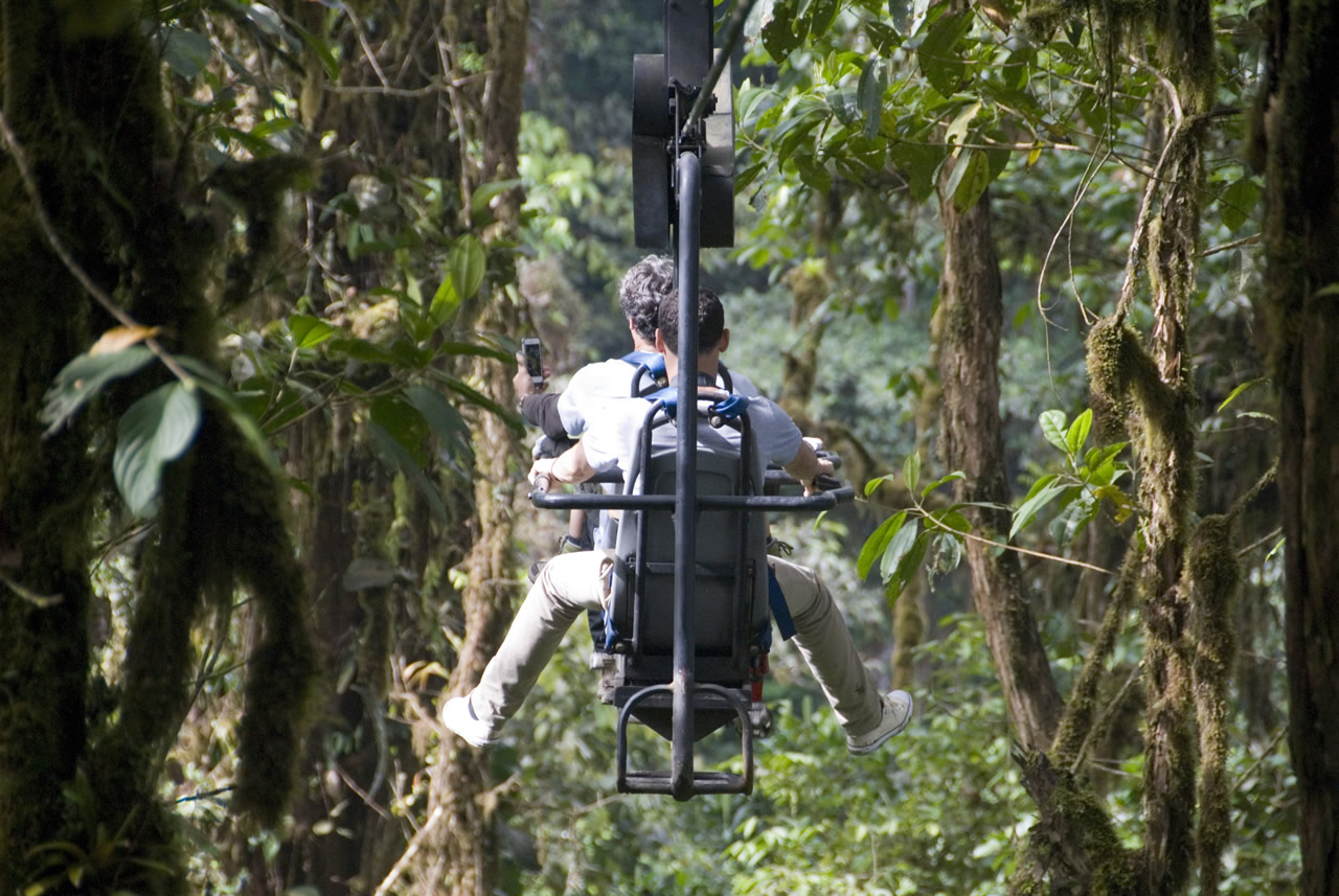 Zip Lining through Cloud Forest